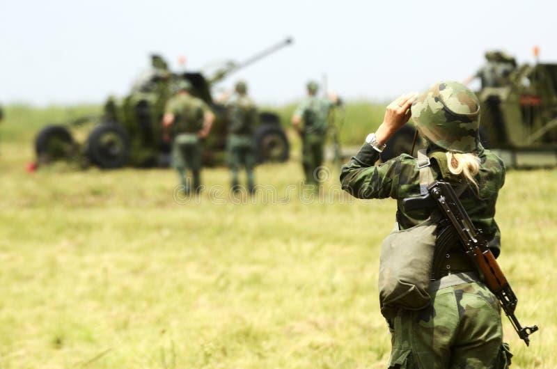 军队的妇女 库存图片