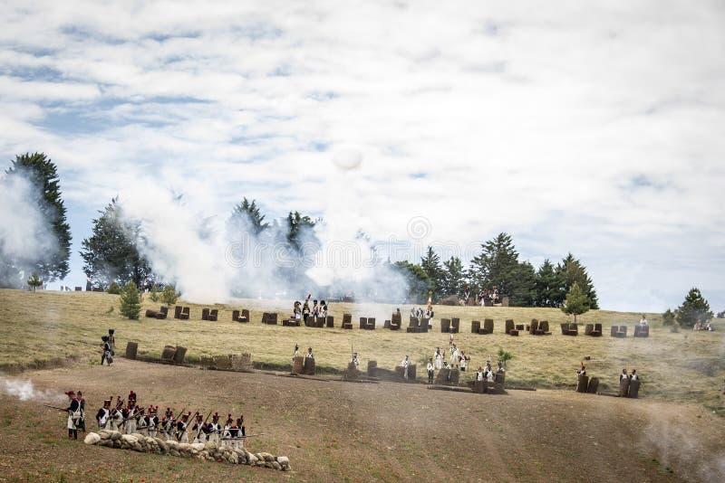 军队的性格在战场的 图库摄影