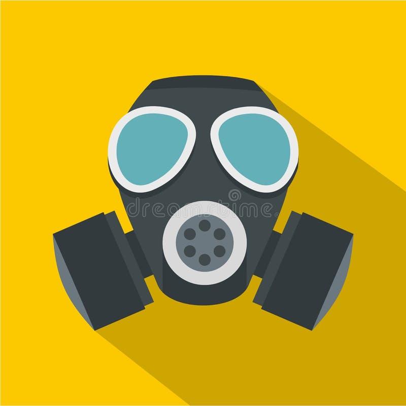 军队防毒面具象,平的样式 库存例证