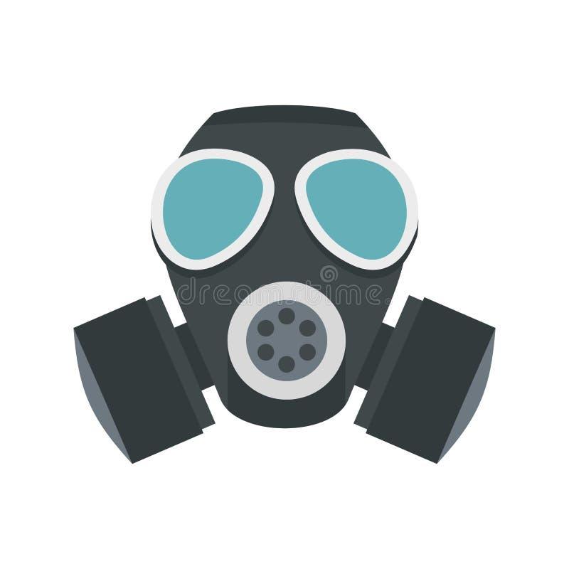 军队防毒面具象,平的样式 向量例证