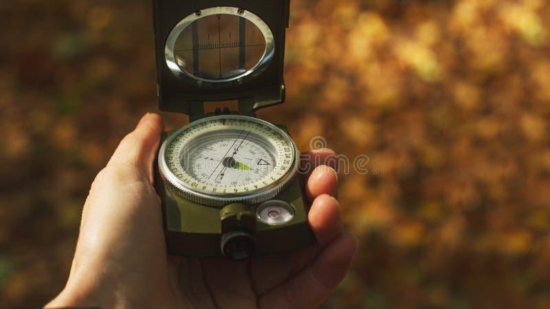 军队绿色指南针 库存图片