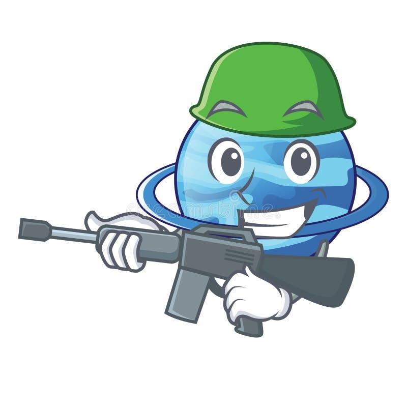军队plenet天王星图象以字符形式 向量例证