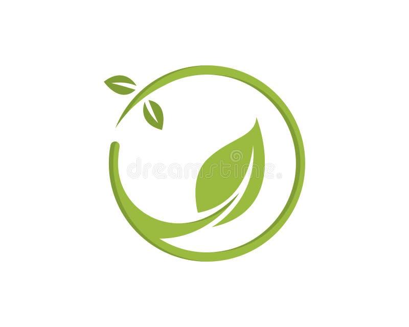 农业企业商标模板独特的绿色传染媒介图象 向量例证