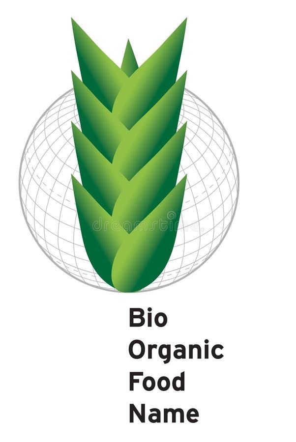 农业和食物商标 库存例证