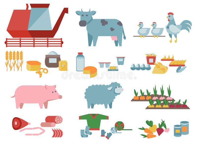 农业和食物生产 库存例证