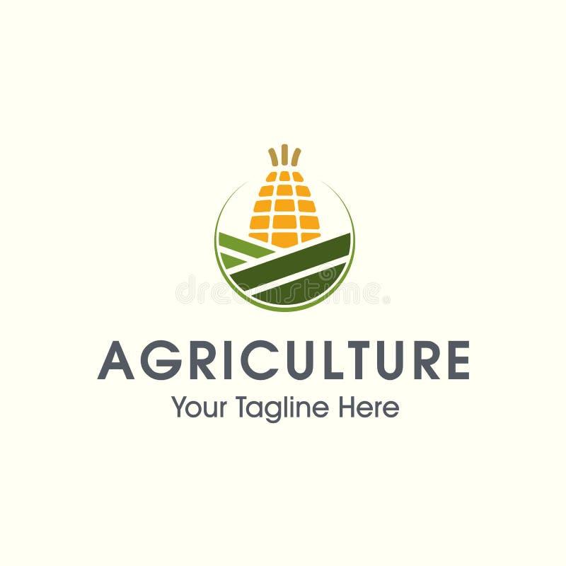 农业商标 传染媒介自然和农厂略写法 库存例证