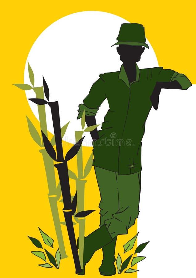 农业学家工作系列 向量例证