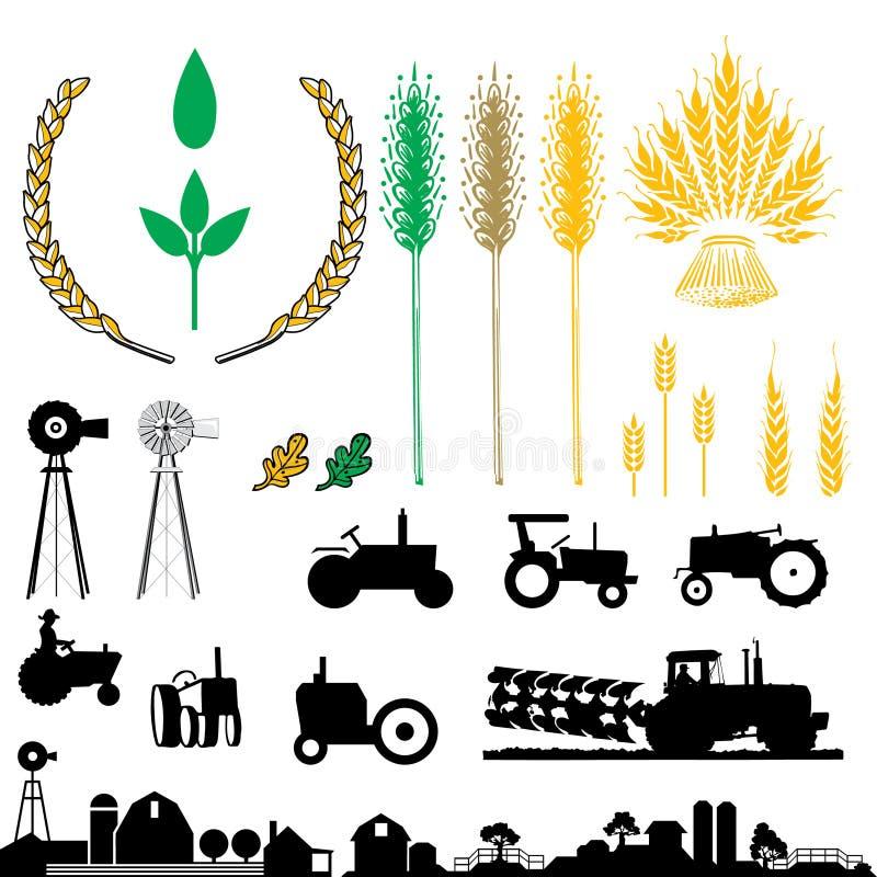 农业徽标 皇族释放例证