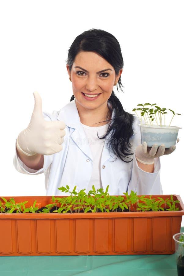 农业成功的工作者 免版税库存图片