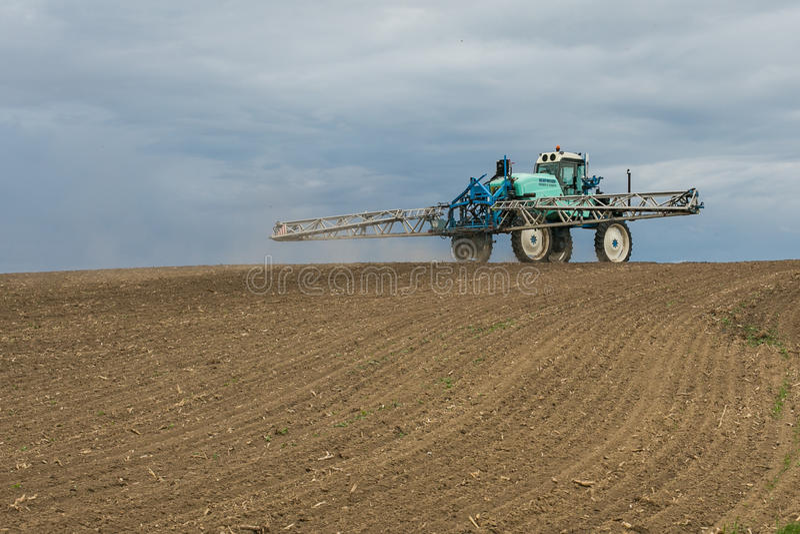 农业拖拉机风景 库存图片