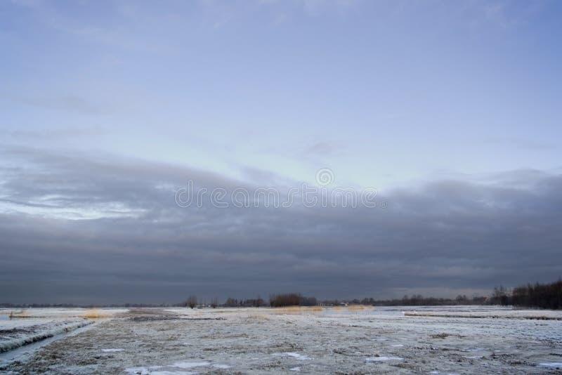 农业荷兰语场面冬天 库存图片