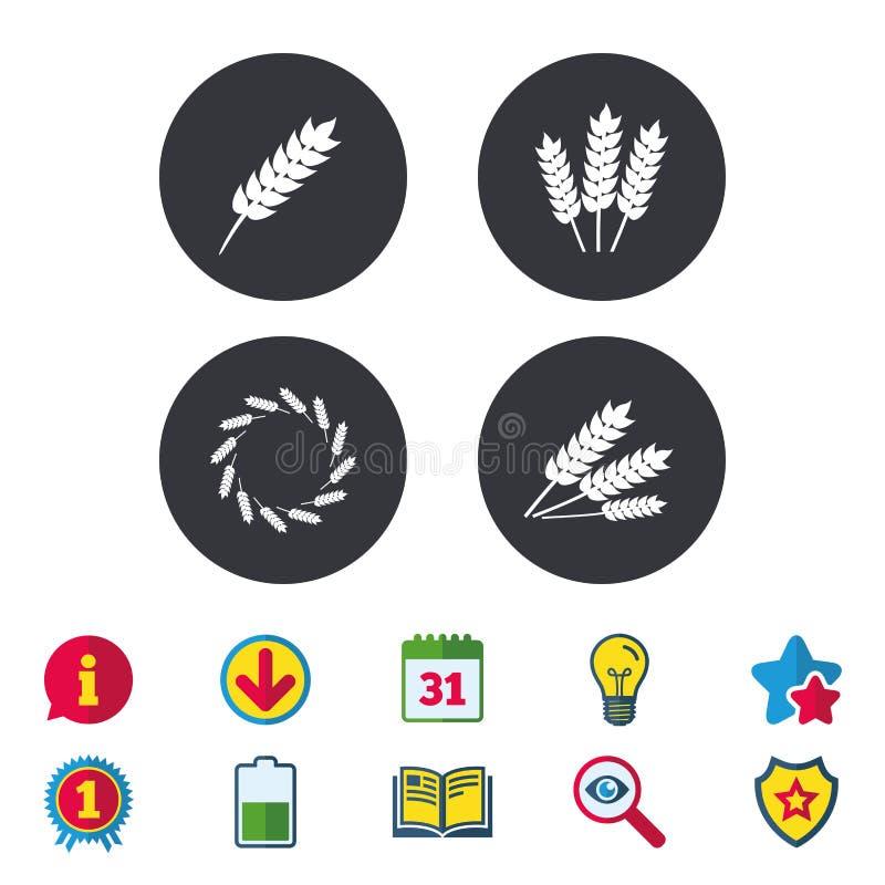 农业象 面筋释放标志 向量例证