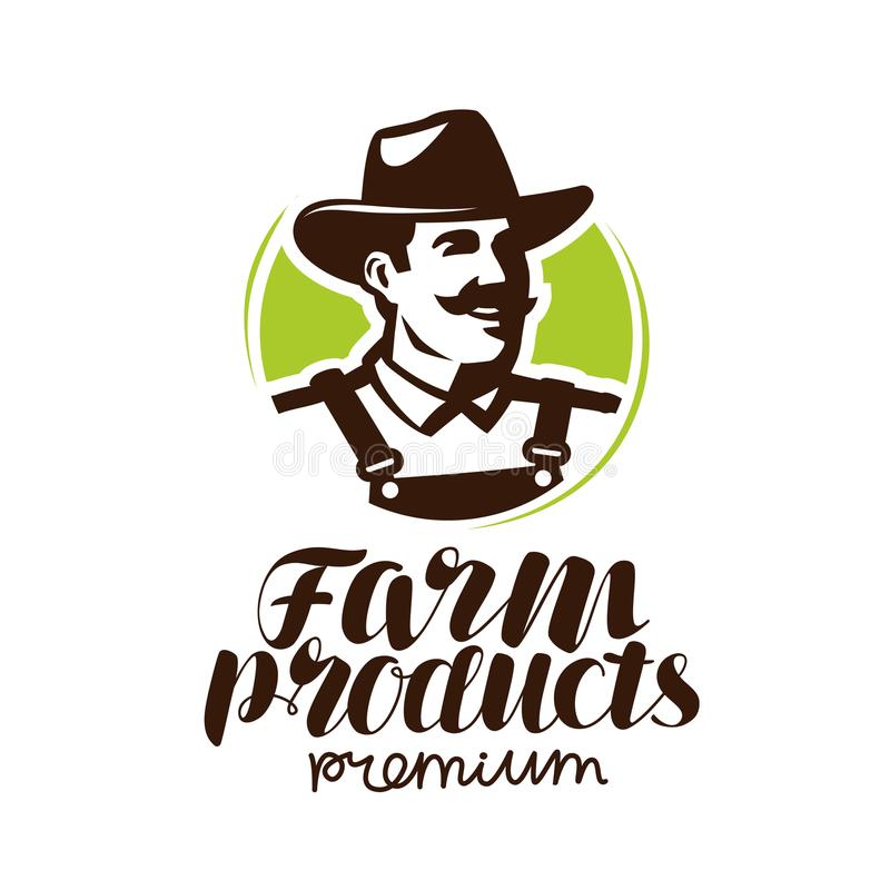农夫77导航_农产品商标或标签 农夫象,传染媒介例证