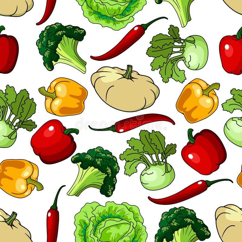 农厂健康菜无缝的样式 皇族释放例证