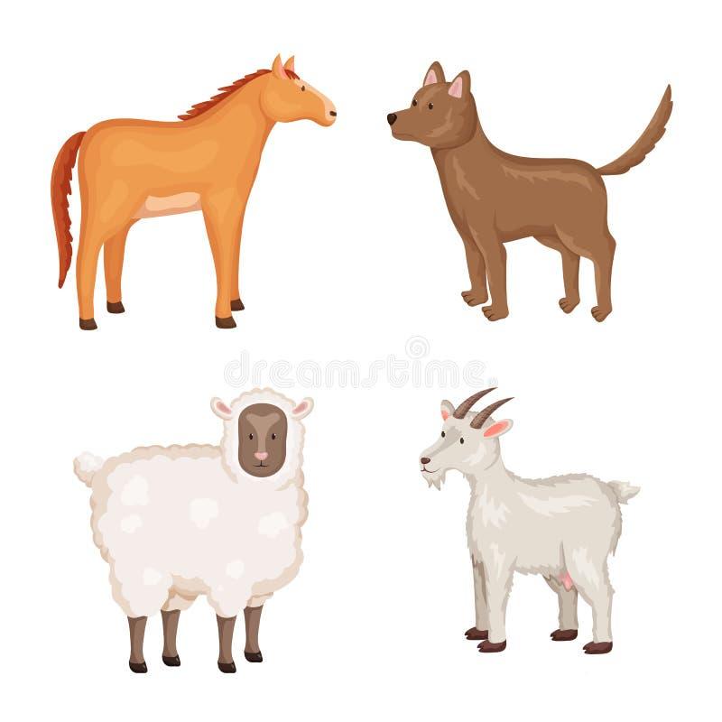 农厂和食物标志传染媒介设计  农厂和乡下股票的传染媒介象的汇集 向量例证