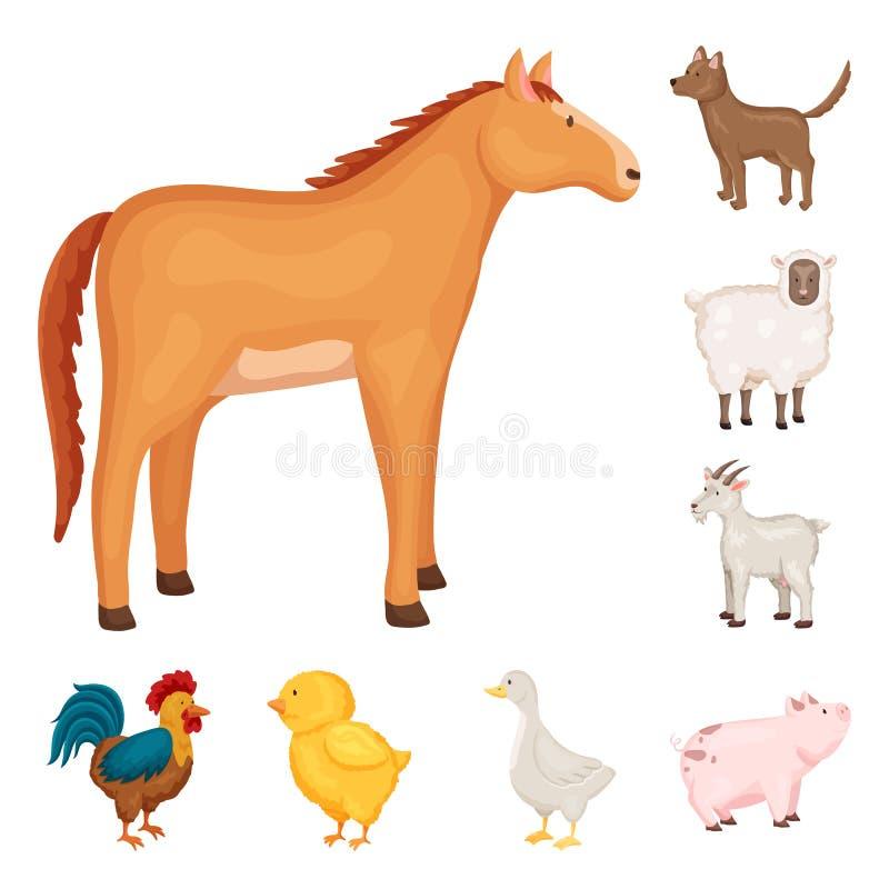 农厂和食物标志传染媒介设计  设置网的农厂和乡下股票简名 皇族释放例证