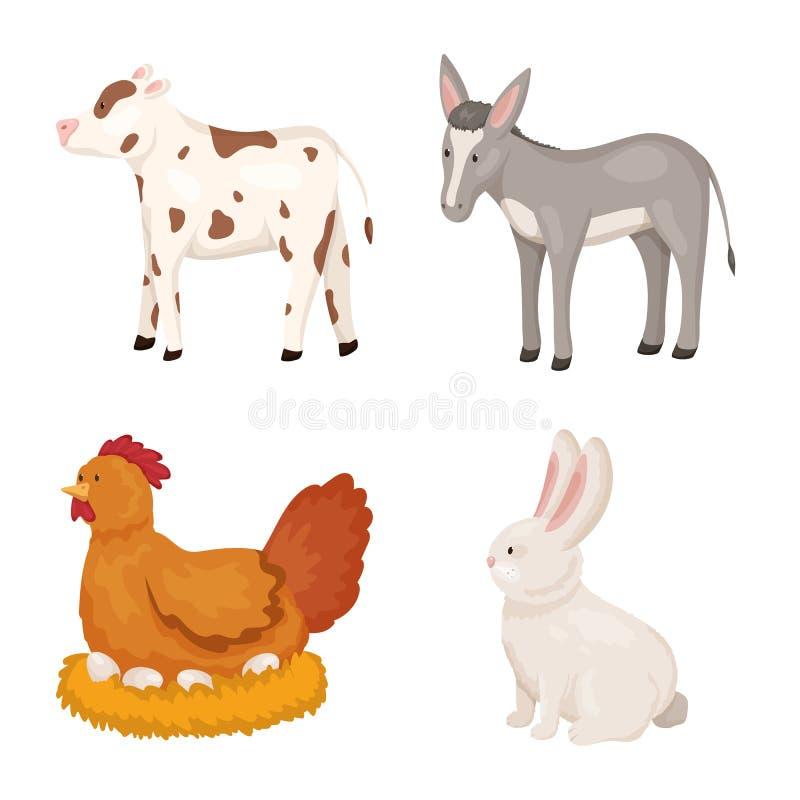 农厂和食物标志的传染媒介例证 农厂和乡下股票传染媒介例证的汇集 库存例证