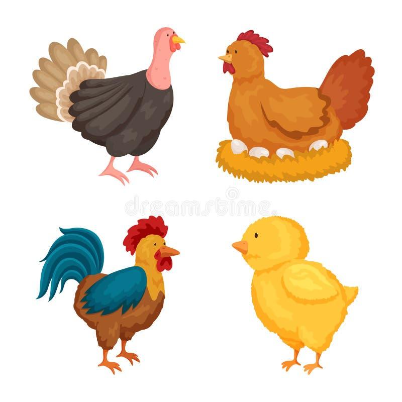 农厂和食物标志被隔绝的对象  农厂和乡下股票传染媒介例证的汇集 库存例证