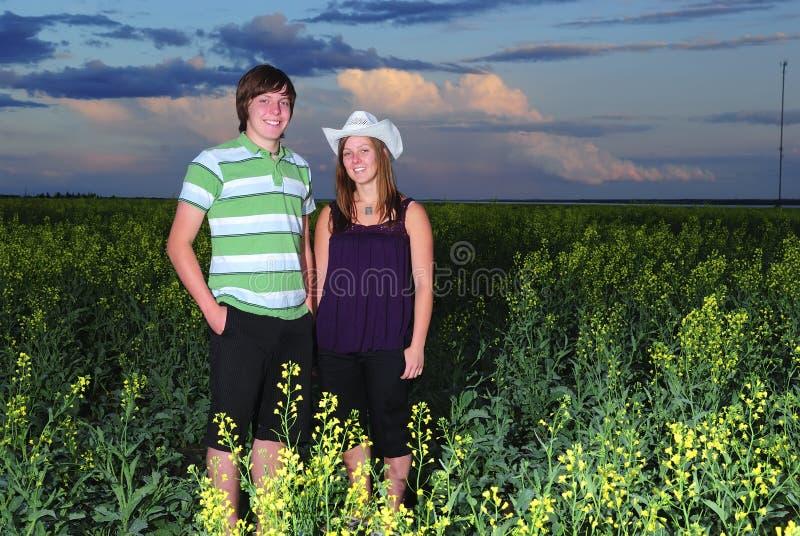 农厂孩子 库存照片