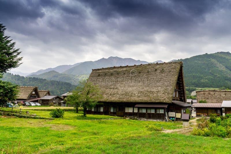 农厂房子在白川町是,日本 免版税图库摄影