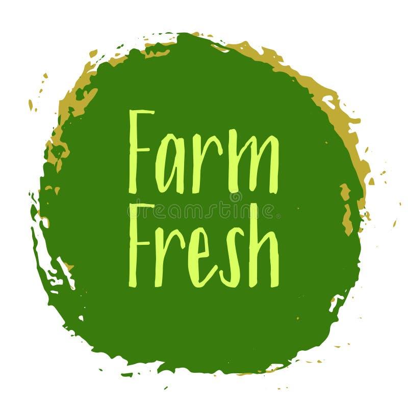 农厂新标签传染媒介,被绘的象征 向量例证