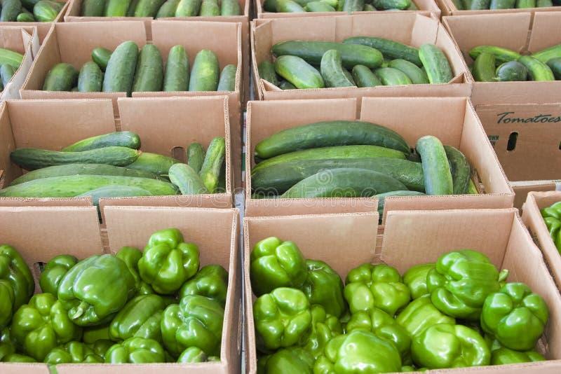 农厂新鲜农产品 库存照片