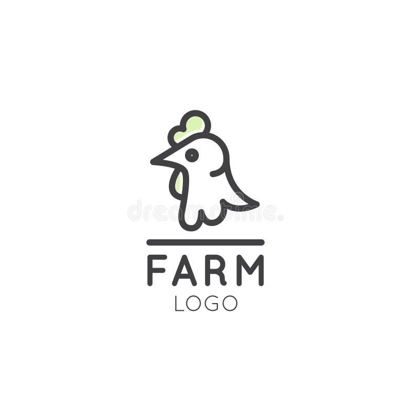 农厂标志、国家概念、鸡象征、国内韩、宠物或者动物商标  库存例证