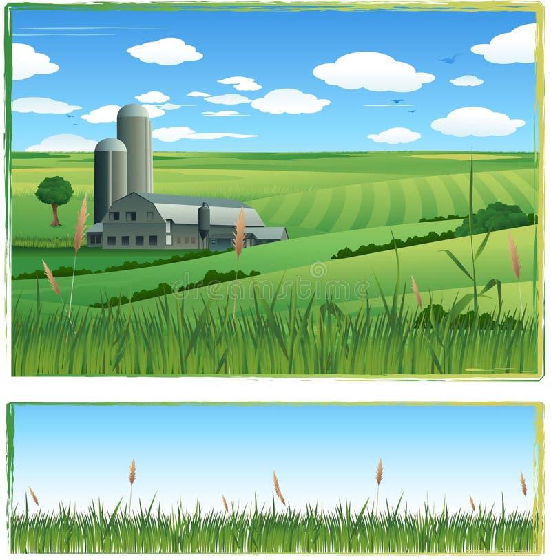 农厂横向向量 库存例证