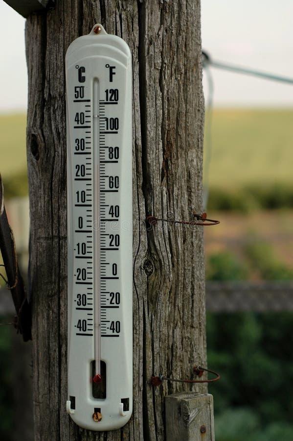 农厂温度计 免版税库存照片