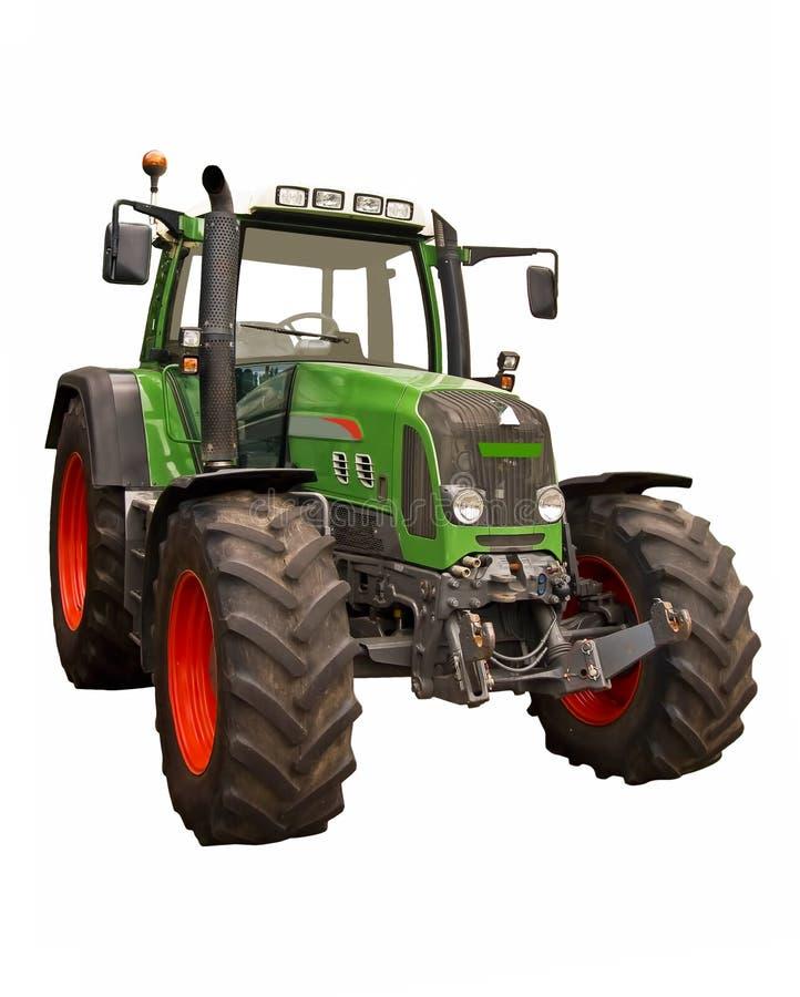 农厂绿色拖拉机 免版税库存照片
