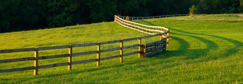 农厂范围调遣全景绕 免版税库存照片