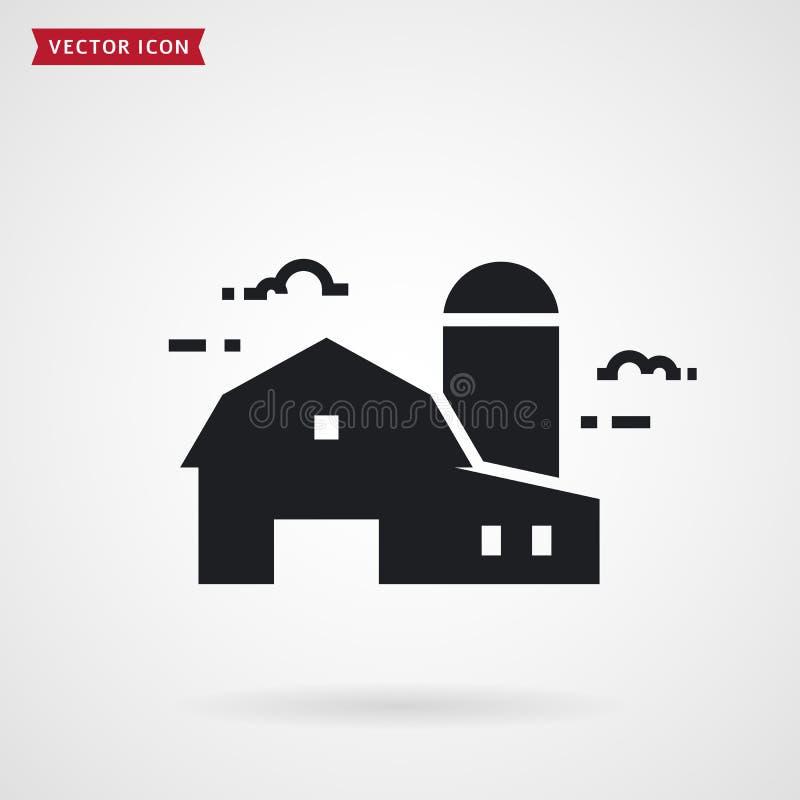 农厂谷仓和筒仓 农舍传染媒介象 库存例证