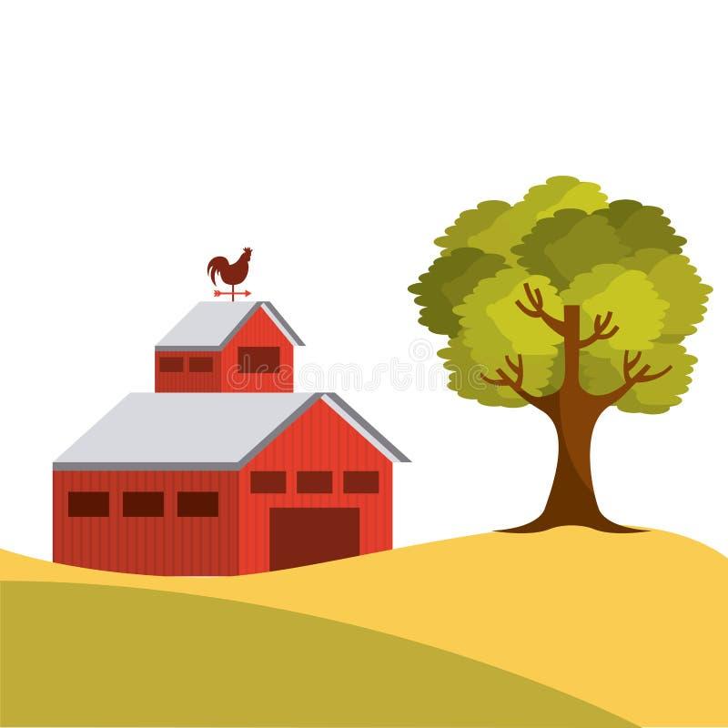 农厂谷仓设计 皇族释放例证