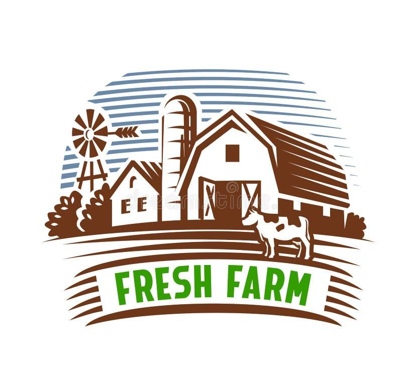 农厂象征和风景 皇族释放例证