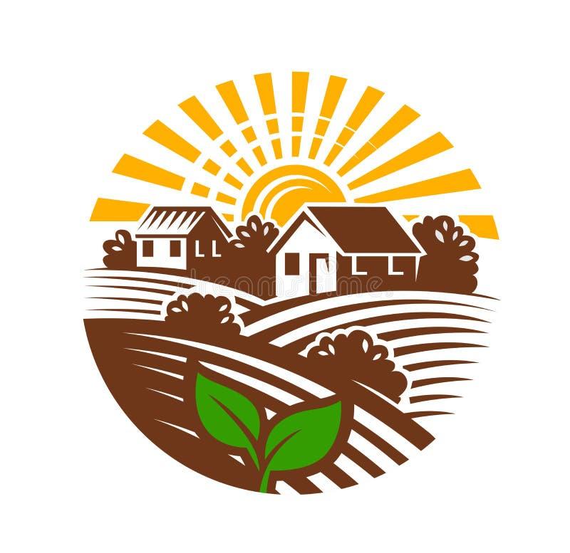 农厂象征和风景 向量例证