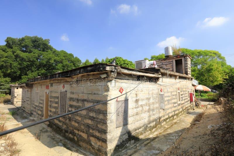 农厂餐馆在zhaojiabao村庄,多孔黏土rgb 免版税库存图片