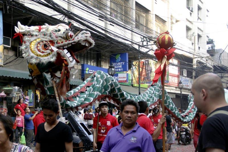 农历新年在马尼拉唐人街 库存照片