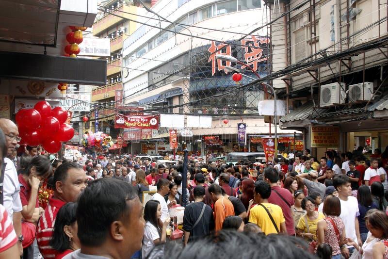 农历新年在马尼拉唐人街 免版税图库摄影