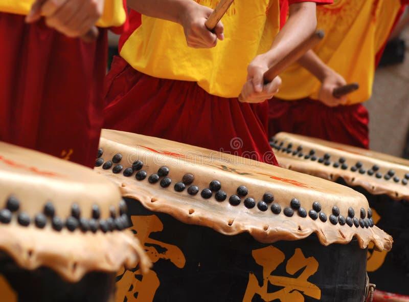农历新年鼓手,马来西亚 免版税库存照片