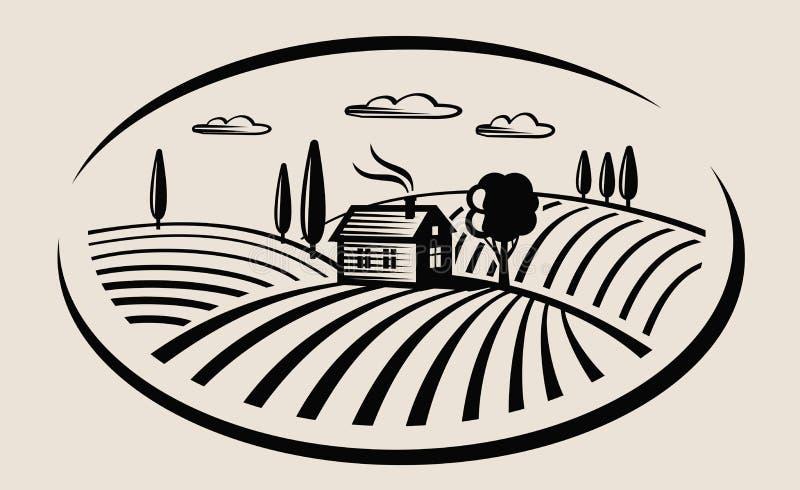 Download 农场和领域 向量例证. 插画 包括有 增长, 板刻, 投反对票, 设计, 问题的, 装饰, 自然, 培养 - 62533058