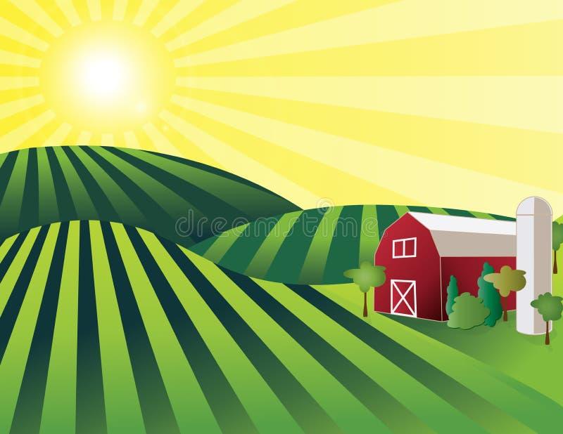 Download 农场土地 向量例证. 插画 包括有 户外, 问题的, 地产, 横向, 农田, 庄稼, 增长, 本质, 自然 - 72374756