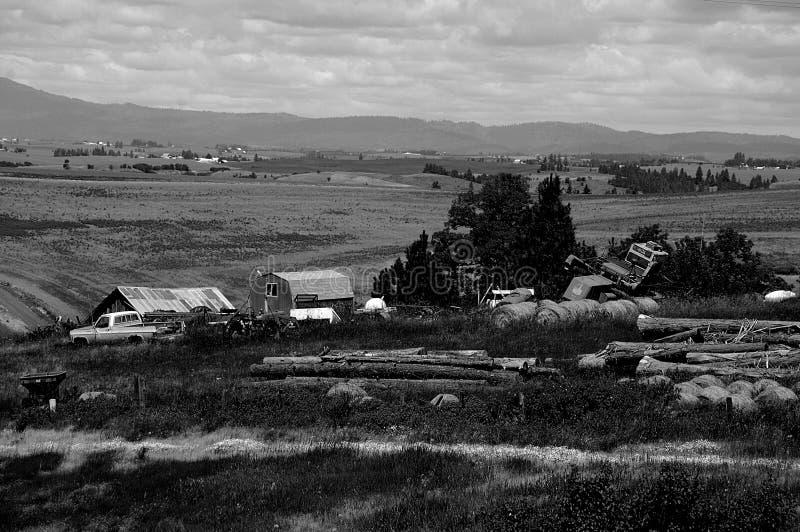 农场在喀麦隆内兹珀斯县,酷寒北风爱达荷,爱达荷 免版税库存照片