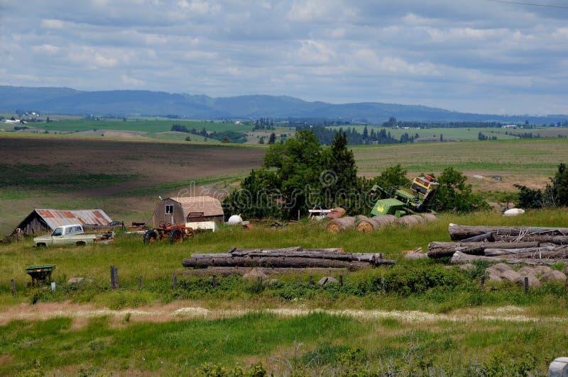 农场在喀麦隆内兹珀斯县,酷寒北风爱达荷,爱达荷 图库摄影