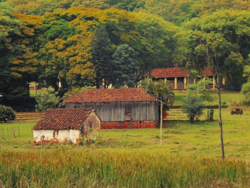 农场的看法 免版税库存照片