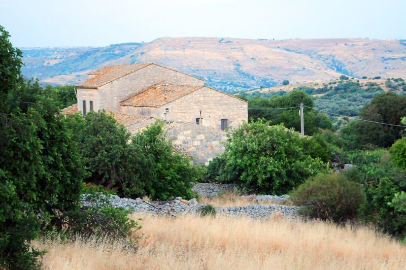 农场西西里岛 库存照片