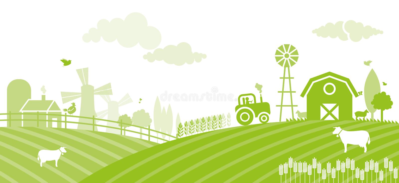 农场 向量例证