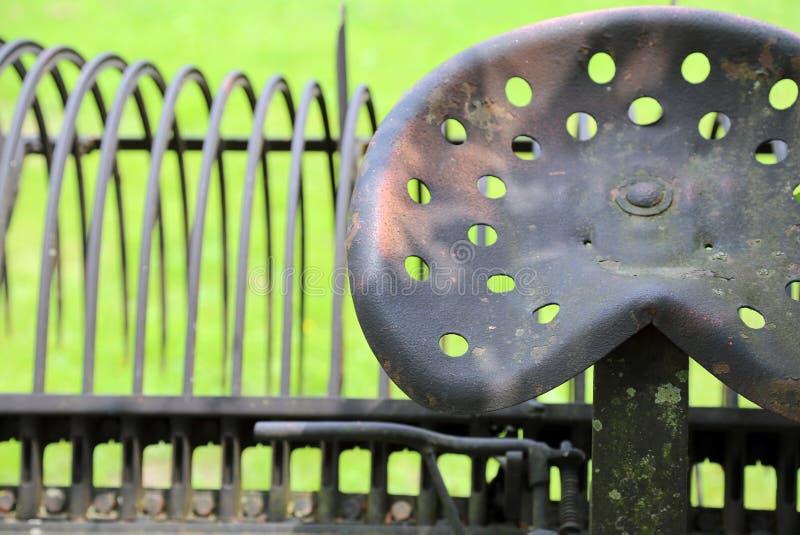 农夫使用的一个古老铁犁的位子 图库摄影
