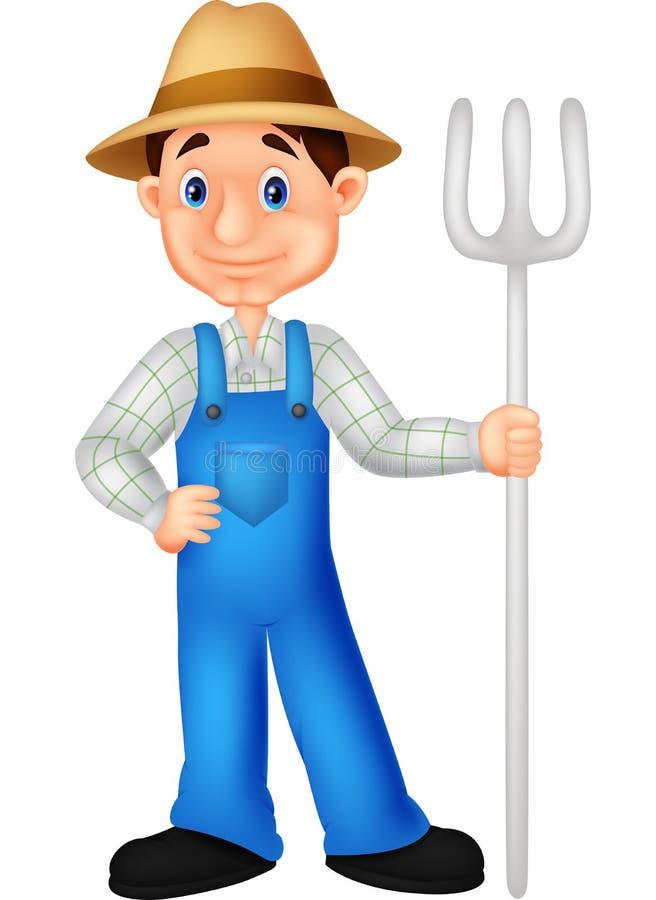 农夫动画片 向量例证