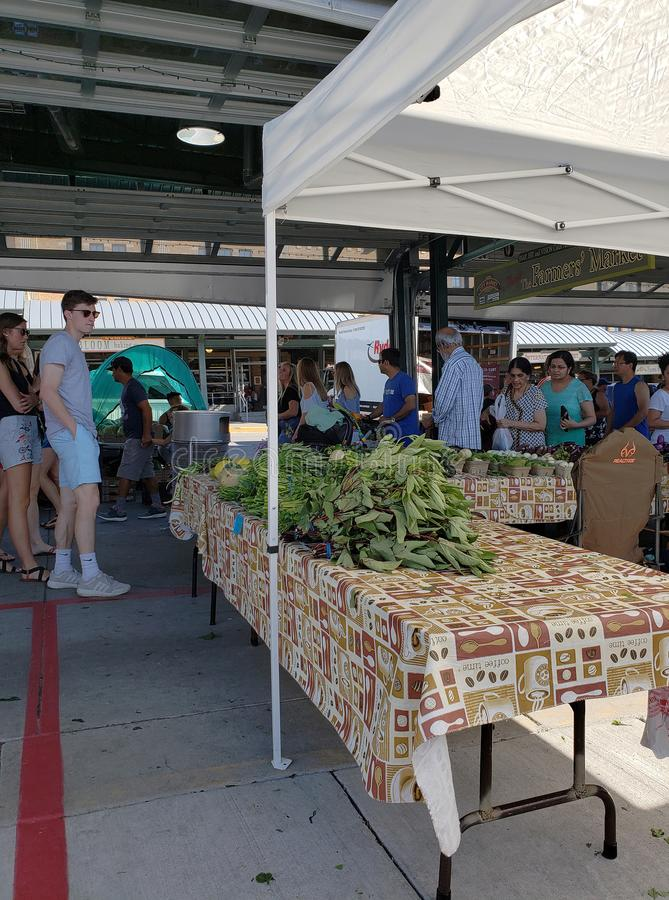 农夫市场视图周末堪萨斯密苏里 图库摄影