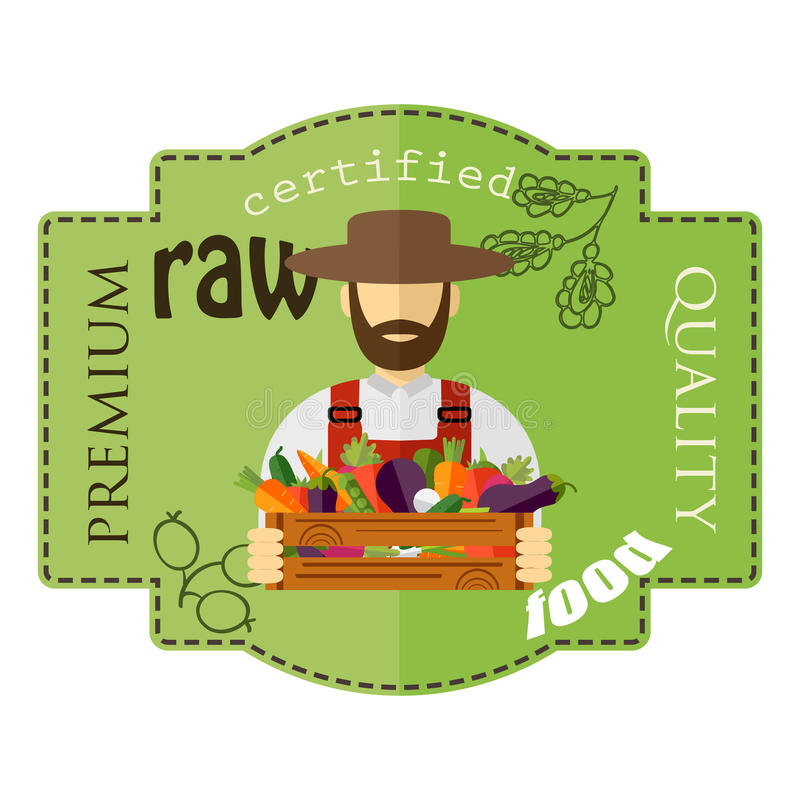 农夫帽子_农夫帽子,被采摘的菜 传染媒介例证,象.
